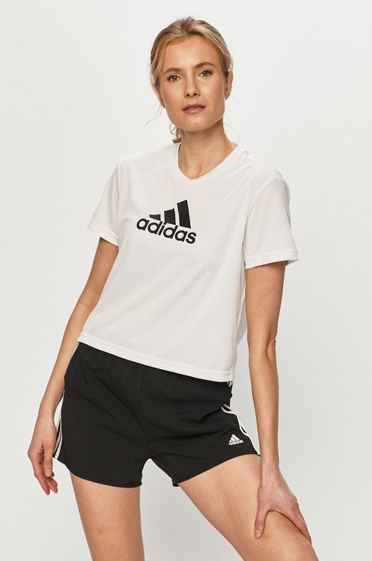 biały adidas - T-shirt Damski