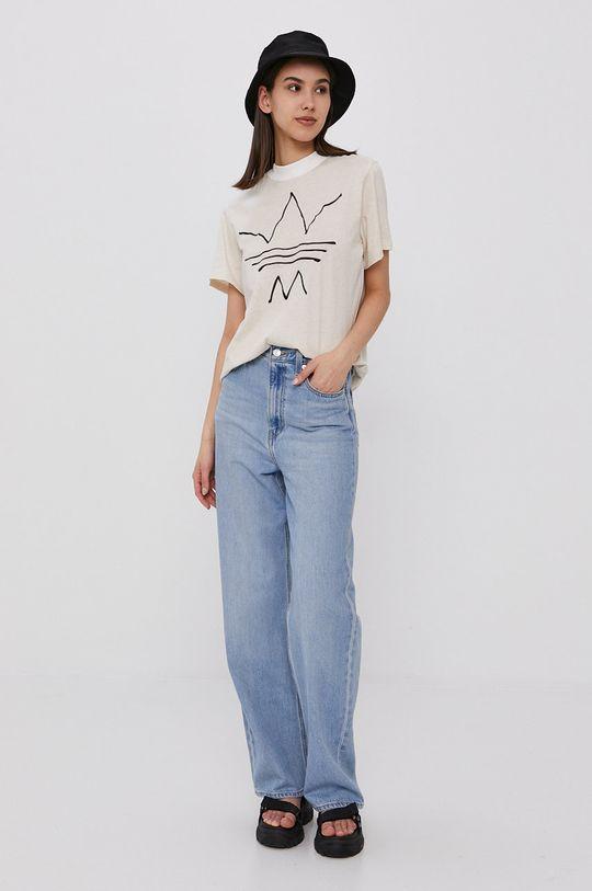 adidas Originals - T-shirt beżowy