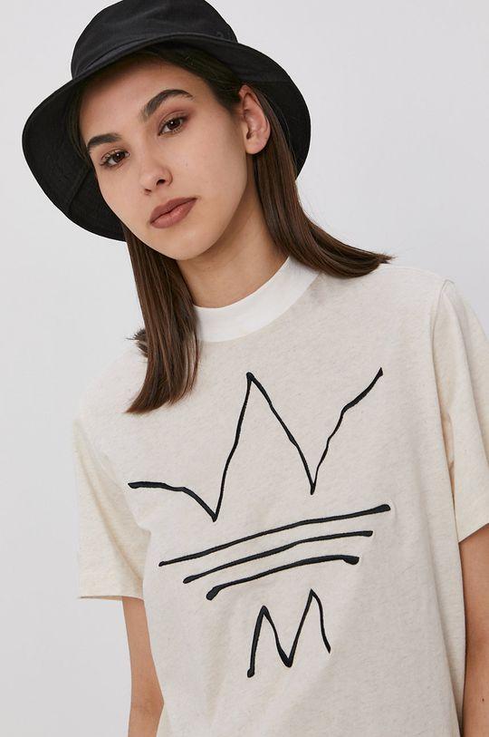 beżowy adidas Originals - T-shirt