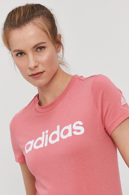 adidas - T-shirt różowy
