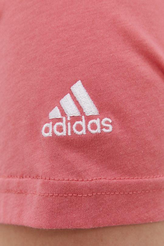 różowy adidas - T-shirt