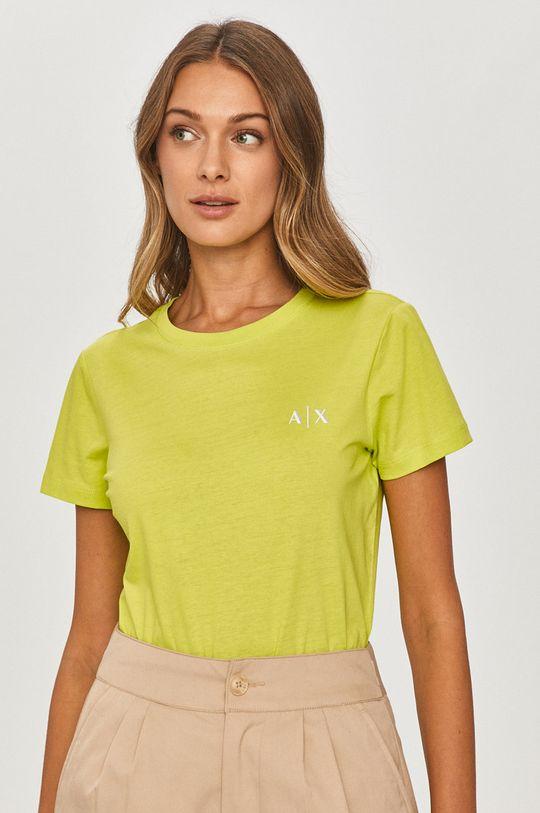žlto-zelená Armani Exchange - Tričko