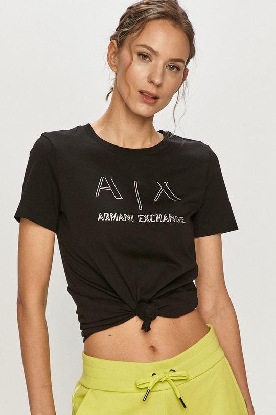 čierna Armani Exchange - Tričko Dámsky