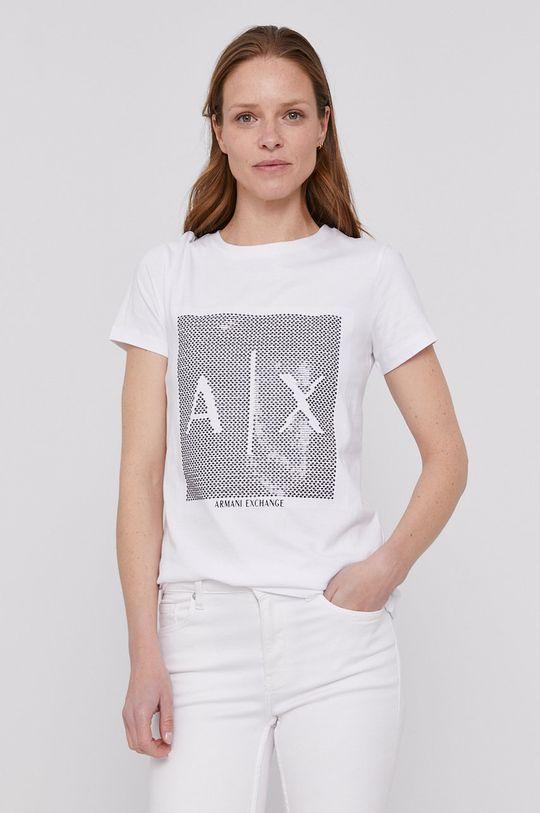 biela Armani Exchange - Tričko Dámsky