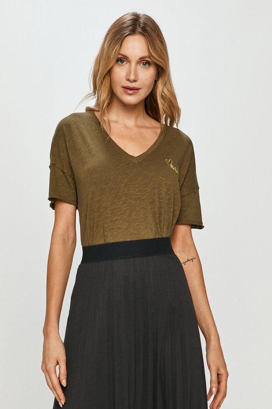 oliwkowy Mos Mosh - T-shirt Damski