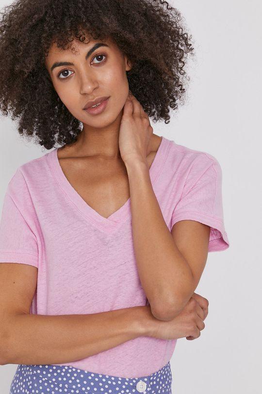 różowy Mos Mosh - T-shirt Damski