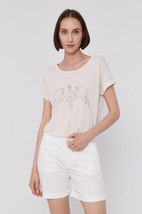 kremowy Mos Mosh - T-shirt Damski