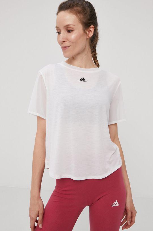 biały adidas Performance - T-shirt Damski