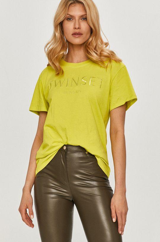 żółto - zielony Twinset - T-shirt Damski