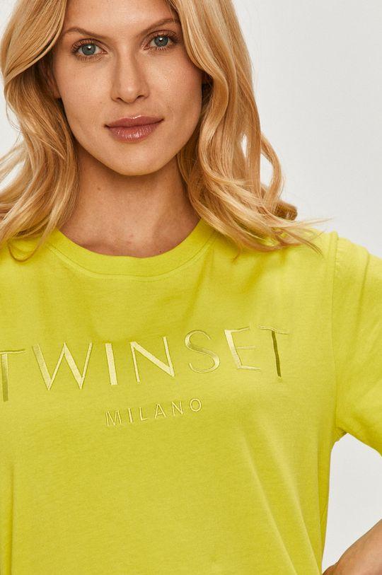 żółto - zielony Twinset - T-shirt