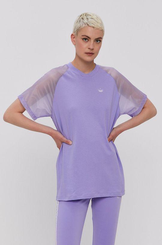 winogronowy adidas Originals - T-shirt Damski