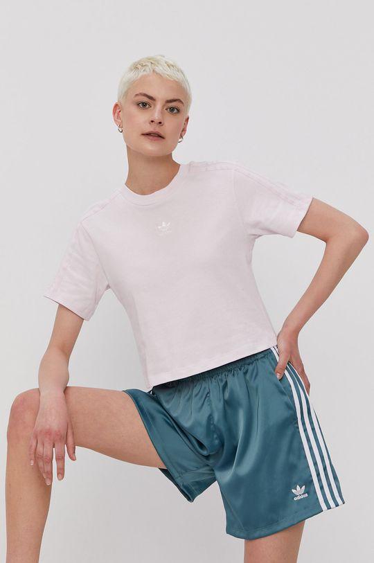 lawendowy adidas Originals - T-shirt Damski