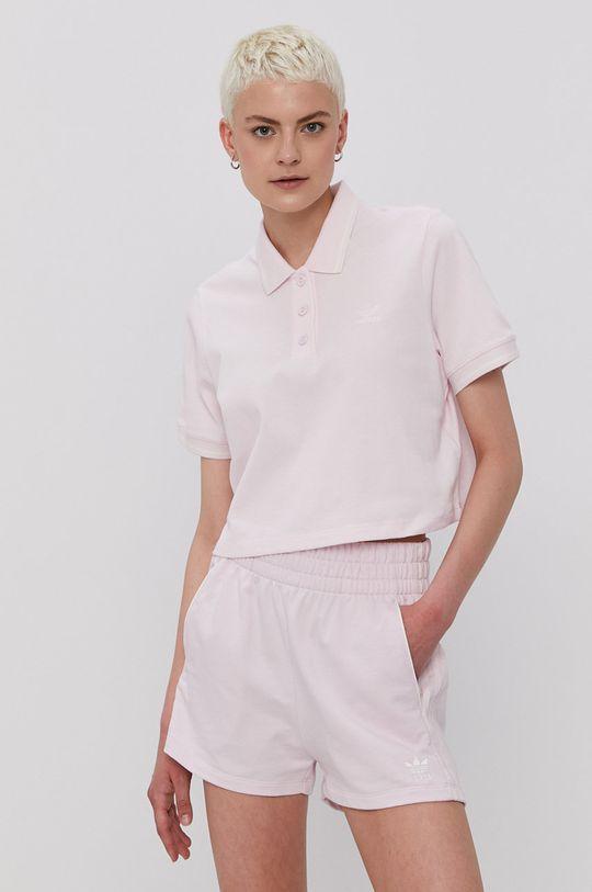 różowy adidas Originals - T-shirt Damski