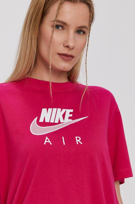 fuksia Nike Sportswear - Tričko Air W