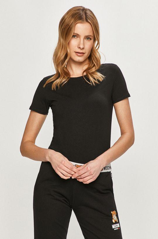 czarny Moschino Underwear - T-shirt Damski