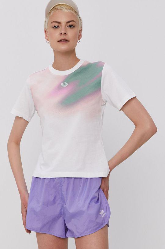 biały adidas Originals - T-shirt Damski