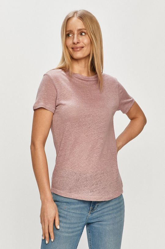różowy Only - T-shirt Damski