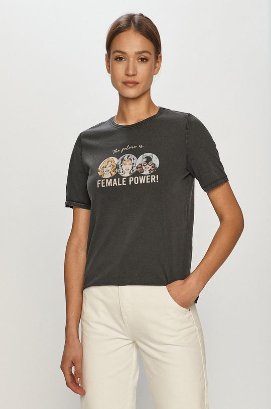 grafitowy Only - T-shirt Damski