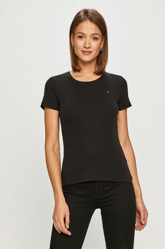 czarny Tommy Hilfiger - T-shirt Damski