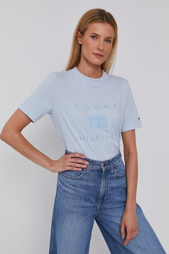 blady niebieski Tommy Hilfiger - T-shirt Damski
