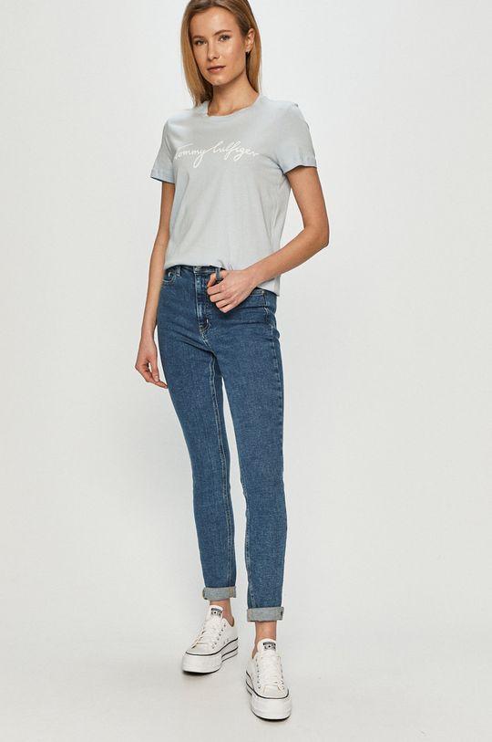 Tommy Hilfiger - T-shirt blady niebieski