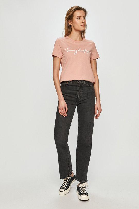 Tommy Hilfiger - Tricou roz