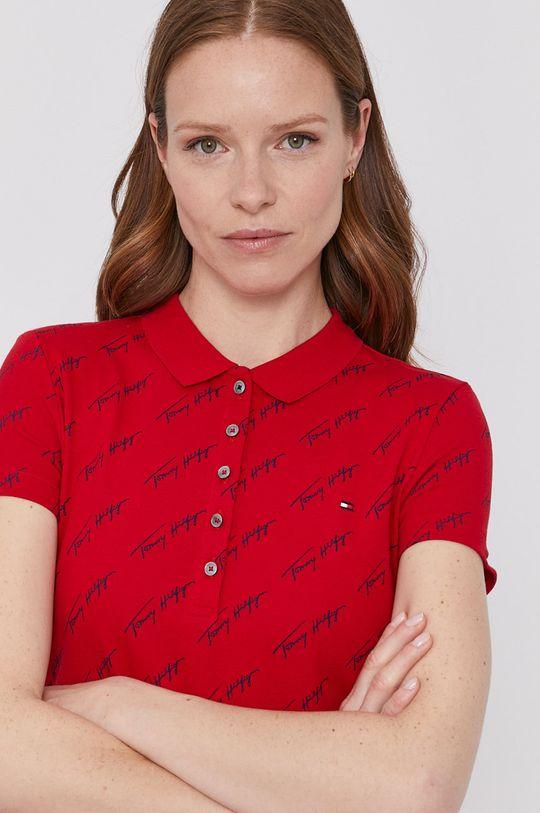 červená Tommy Hilfiger - Polo tričko Dámsky