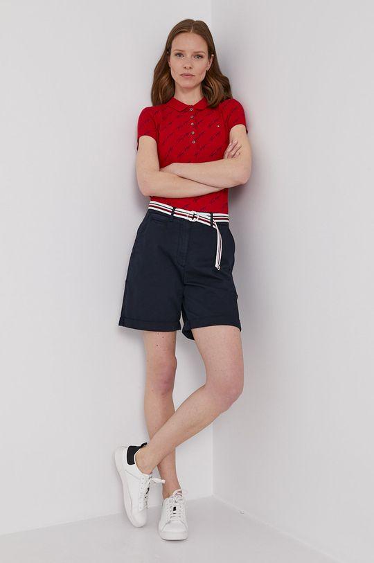 Tommy Hilfiger - Polo tričko červená