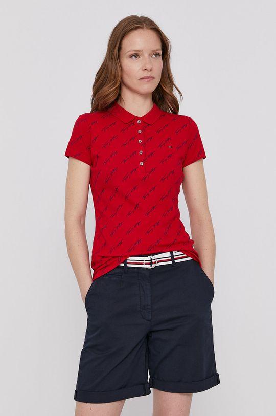 červená Tommy Hilfiger - Polo tričko