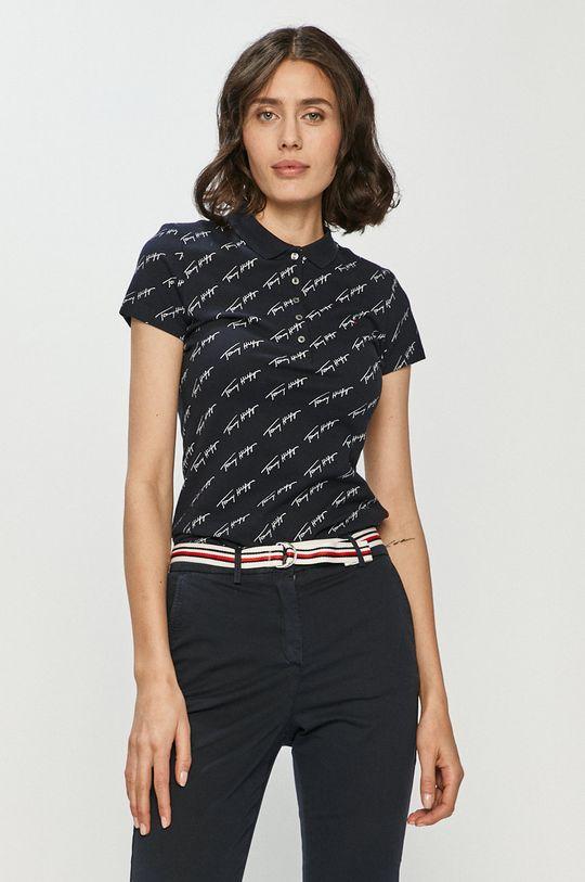 tmavomodrá Tommy Hilfiger - Polo tričko