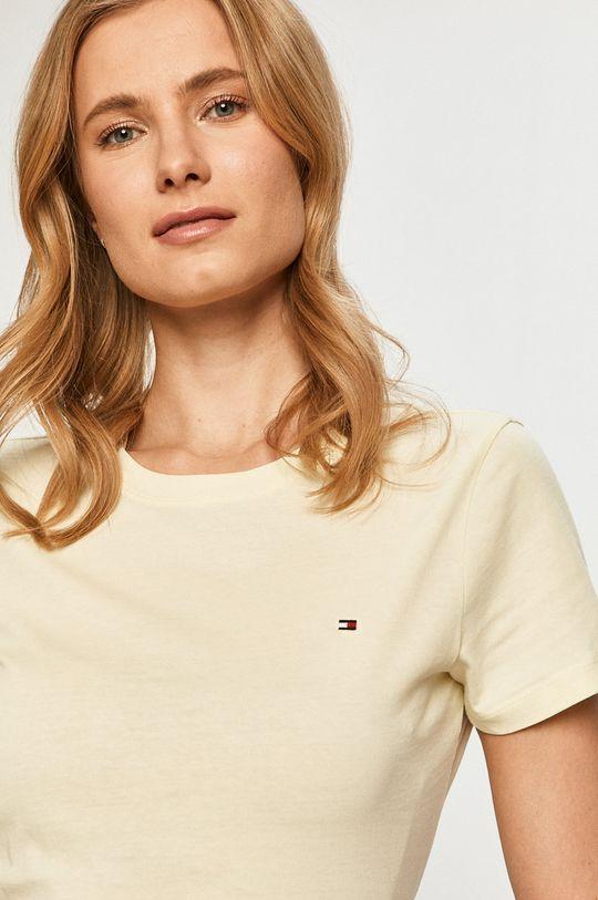 jasny żółty Tommy Hilfiger - T-shirt