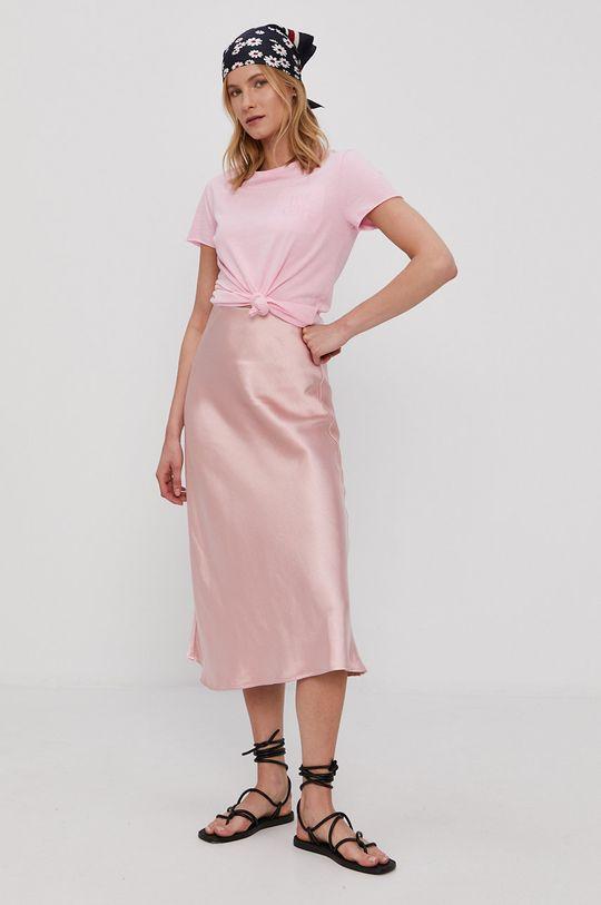 Only - T-shirt różowy