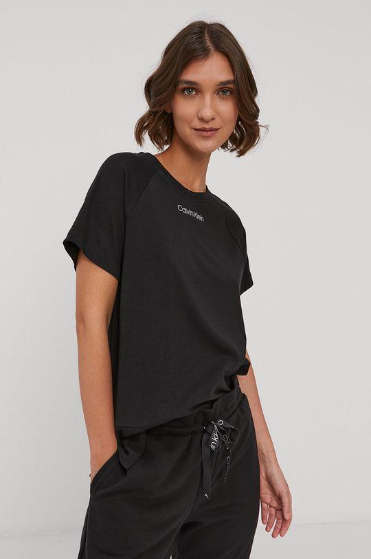 czarny Calvin Klein Underwear - T-shirt piżamowy Damski
