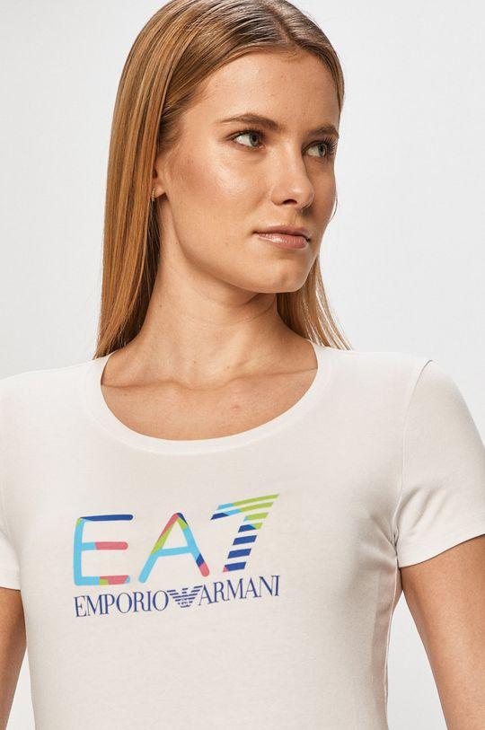 biela EA7 Emporio Armani - Tričko Dámsky