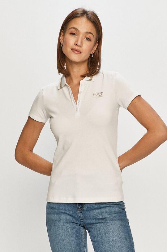 biały EA7 Emporio Armani - T-shirt Damski
