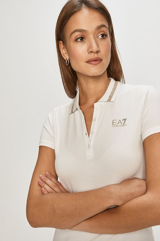 biały EA7 Emporio Armani - T-shirt