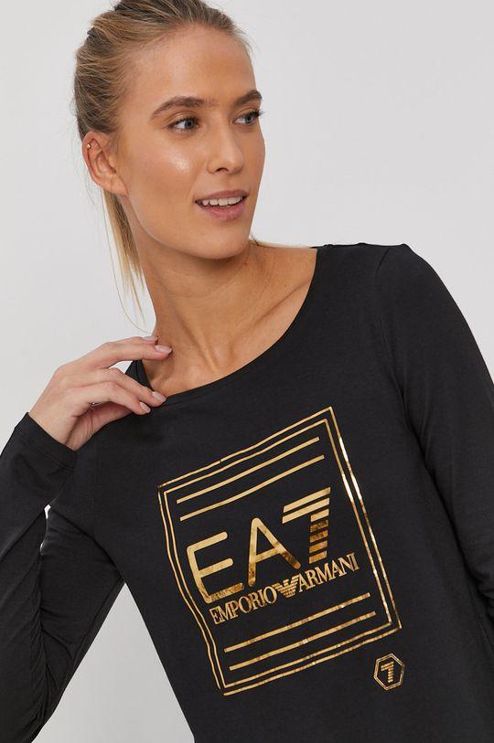 czarny EA7 Emporio Armani - T-shirt Damski