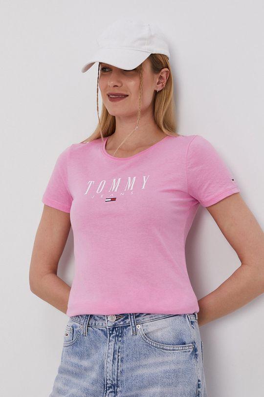 bledofialový Tommy Jeans - Tričko Dámsky