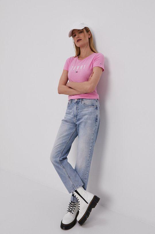 Tommy Jeans - Tričko bledofialový