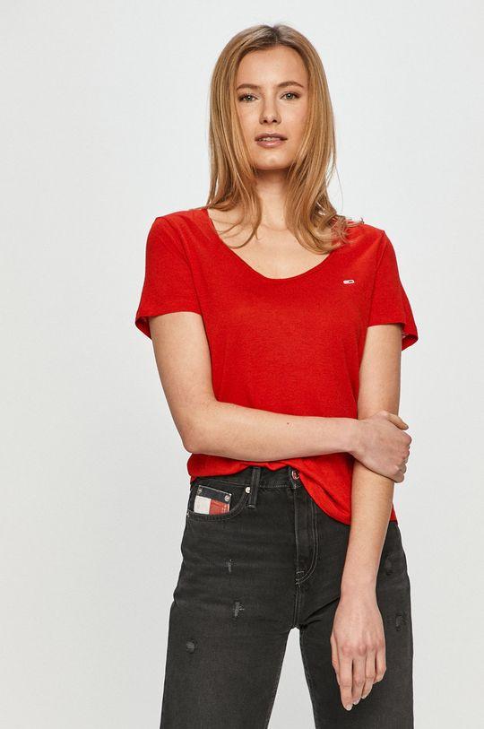 červená Tommy Jeans - Tričko Dámsky