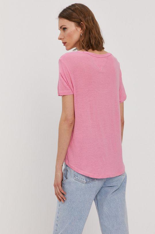 Tommy Jeans - Tričko  15% Ľan, 85% Viskóza