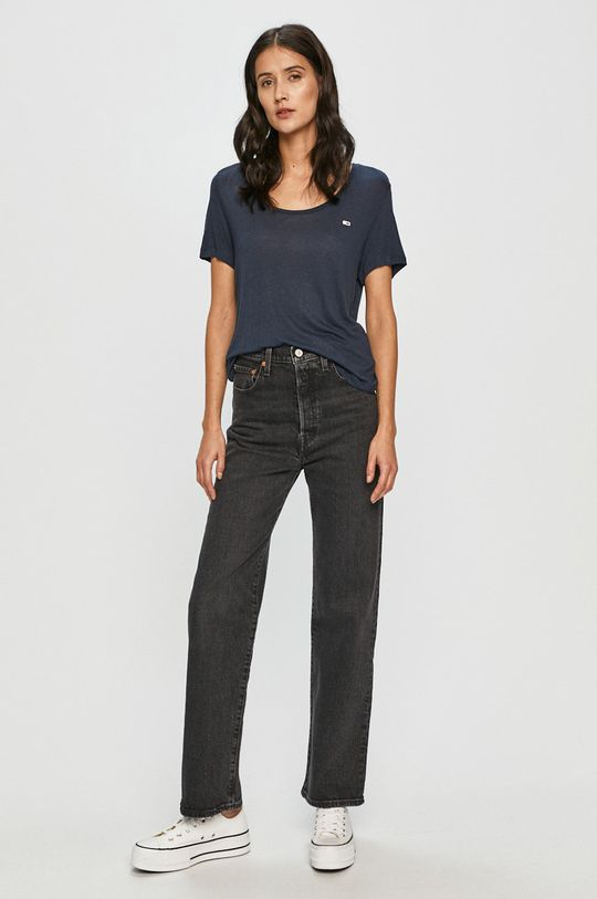 Tommy Jeans - Tričko tmavomodrá