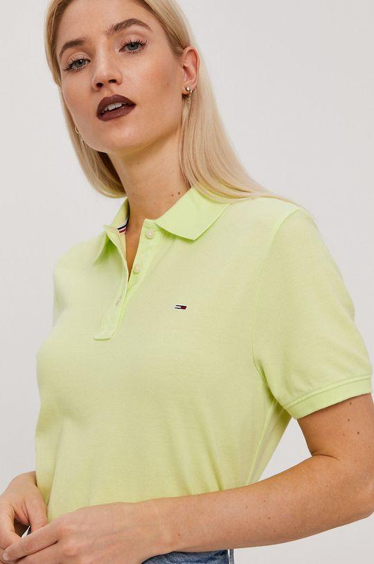 żółto - zielony Tommy Jeans - T-shirt