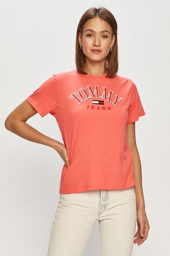 ostrá růžová Tommy Jeans - Tričko Dámský