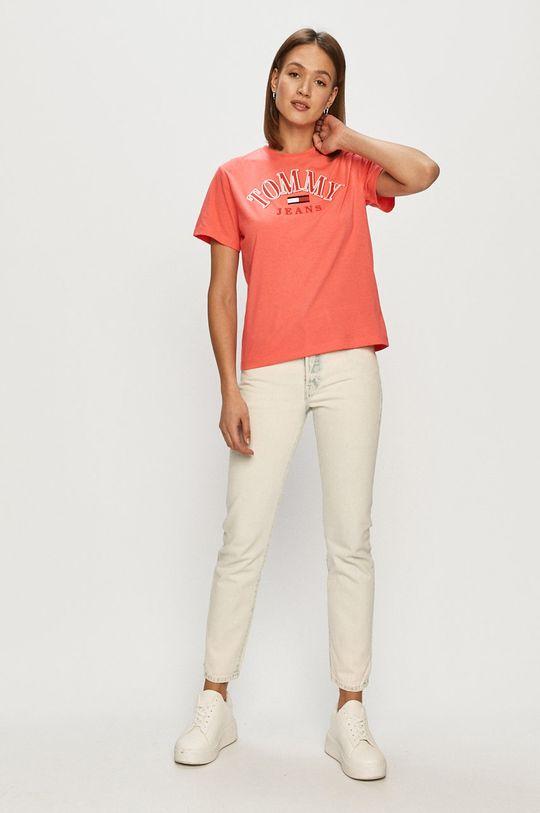 Tommy Jeans - Tričko ostrá růžová