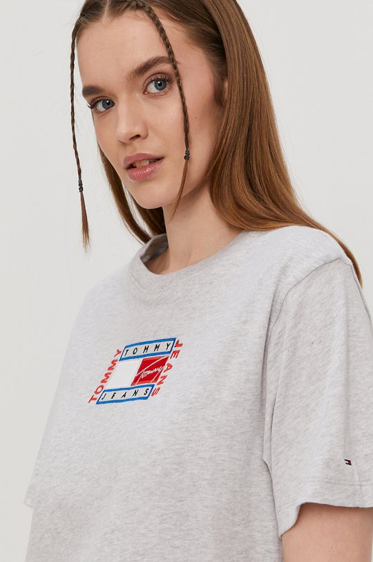 szary Tommy Jeans - T-shirt
