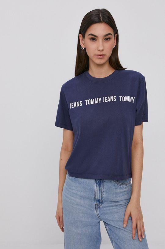 námořnická modř Tommy Jeans - Tričko Dámský