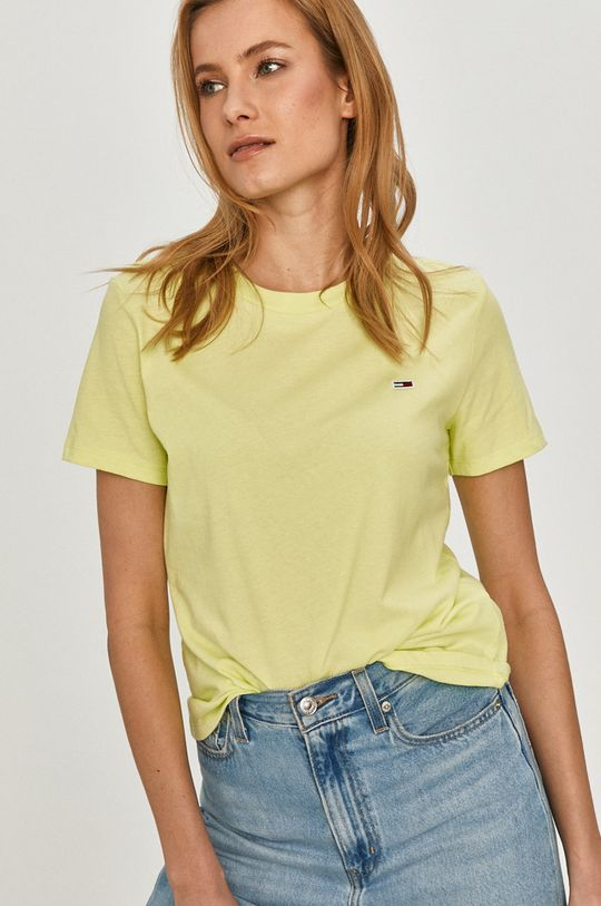 žlutě zelená Tommy Jeans - Tričko