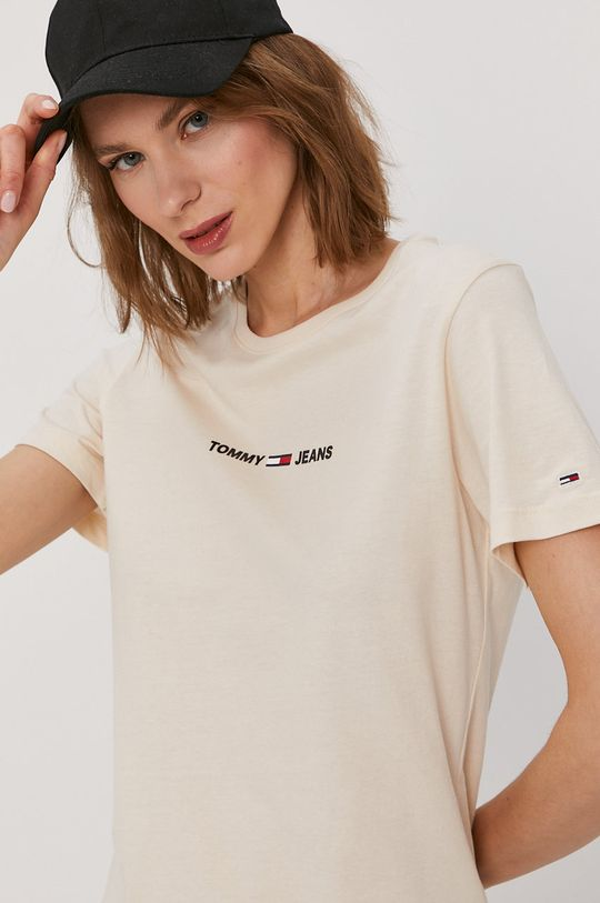 piaskowy Tommy Jeans - T-shirt
