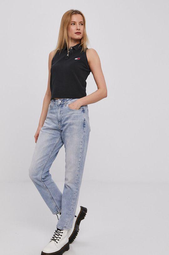 Tommy Jeans - Top czarny